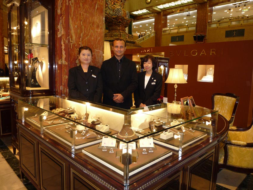 Carl Blackburn at the luxury Mitsukoshi Department Store in Tokyo.