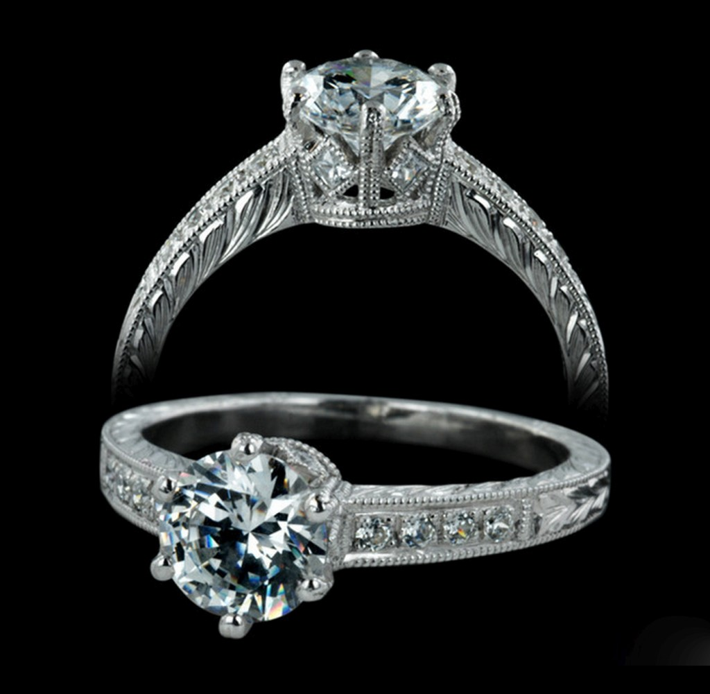 Custom engagement rings carl blackburn san diego ca for Custome wedding rings