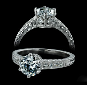 the art of hand engraved jewelry engagement rings