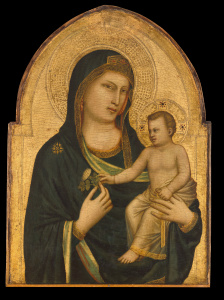 The Madonna and Child (1320) by late medieval artist Giotto di Bondone.