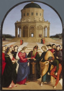 The Marriage of the Virgin (1504) by Italian High Renaissance artist Raphael.